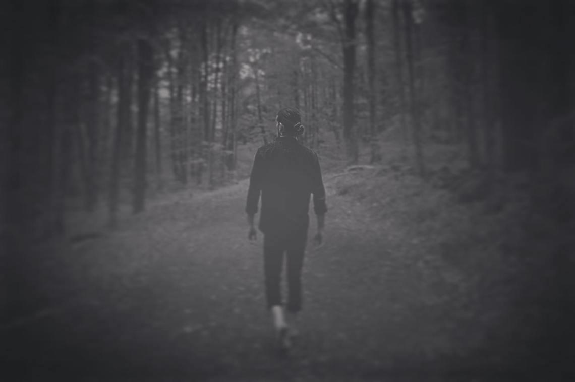 Man on path