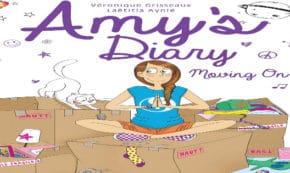 moving on, amy's diary, comic, graphic novel, romace, Veronique Grisseaux, net galley, review, papercutz