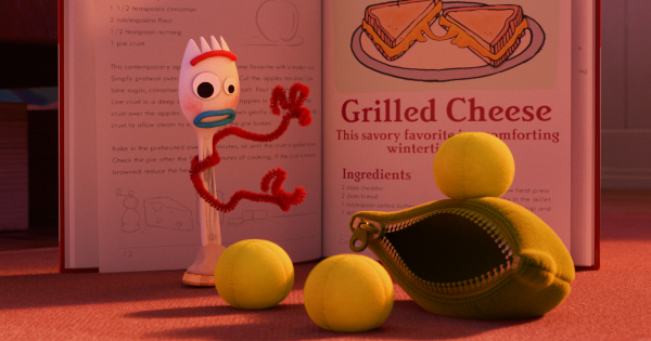 what is reading, forky asks a question, animated, short, tony hale, pixar, review, disney plus