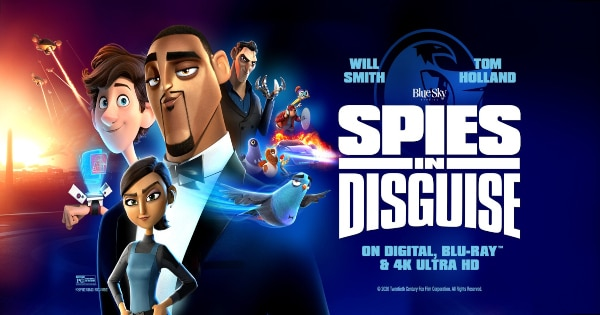 spies in disguise, computer animated, comedy, will smith, tom holland, blu-ray, review, 20th century fox