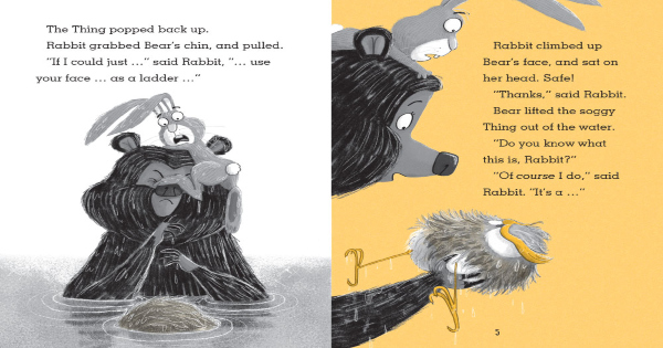 attack of the snack, rabbit and bear, children's fiction, julian gough, net galley, review, pritners row publishing group