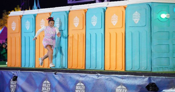 don't attempt this in clogs, holey moley, tv show, sports, competition, season 2, review, abc
