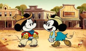 cheese wranglers, wonderful world of mickey mouse, animated, comedy, shorts, review, disney plus