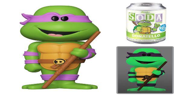 vinyl soda pops, donatello, teenag mutant ninja turtles, tv show, animated, sneak peek, entertainment earth, funko