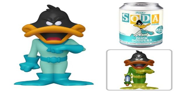 duck dogers, animated, daffy duck, looney tunes, vinyl soda, sneak peek, entertainment earth, funko