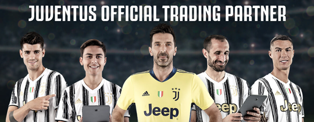 The official photo of the partnership, starring key Juventus players