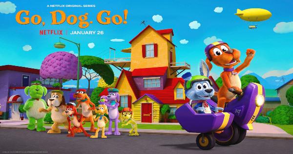 go dog go, tv show, computer animated, adaptation, season 1, review, dreamworks animation, netflix