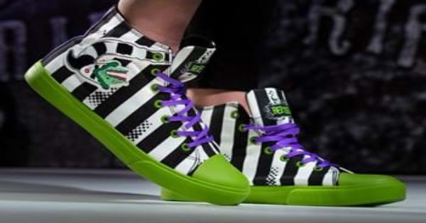 beetlejuice, shoes, comedy, fantasy, press release, fun.com