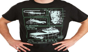ghostbusters, ecto 1, t-shirt, glow in the dark, press release, fun.com