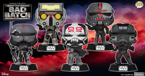 Take a Look at These The Bad Batch Funko Pops