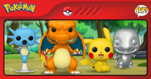 pokemon, funko pop, charizard, horsea, charmander, pikachu, press release, entertainment earth, funko