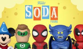 vinyl soda pop, deadpool, spider-man, marvel, green lantern, dc, sorcerer apprentice mickey, chernabog, disney, press release, entertainment earth, funko