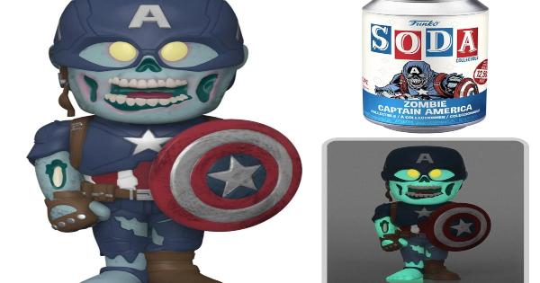 what if zombies, zombie captain america, vinyl soda pop, press release, entertainment earth, funko