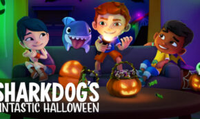 sharkdog's fintastic halloween, computer animated, comedy, family, special, review, netflix